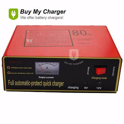 6V//12V 80AH Intelligent Automatic LED Charger Pulse Repair Type Battery V9W4