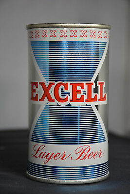 Excell Lager Beer flat-top can, Excell Brewing, Chicago, IL **SHINY**