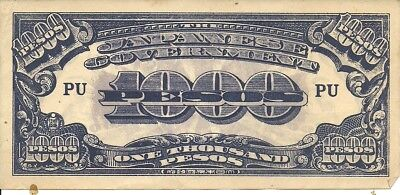 PHILIPPINES: 1000 Pesos. (1944).P-115 ,  Japanese Occupation Note, WWII