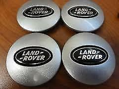 4x LAND ROVER ALLOY WHEEL CENTRE HUB CAPS DISCOVERY FREELANDER RANGE EVOQUE 63m