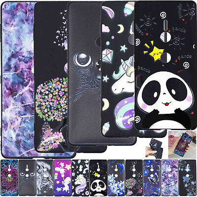 Paint Soft TPU Gel Case Phone Bumper Cover For Sony Xperia L2 XA2 Ultra XZ2 2018