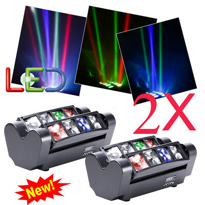 2X DMX512 LED RGBW Spider Moving Head Bühnenlicht 7/13CH Party Stage Beam Licht