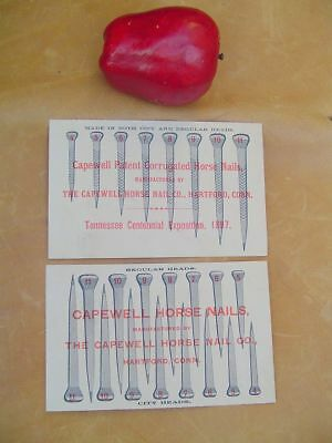 Capewell Horse Nail Co. Advertising Farrier Cards 1897 Exposition Hartford