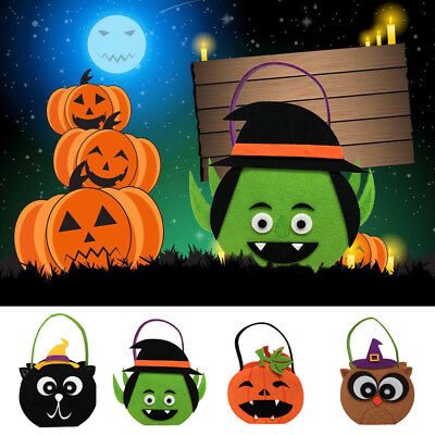 Halloween Pumpkin Tote Bags Pouches Candy Sweets Gifts Bag Kids Toy Fancy Dress