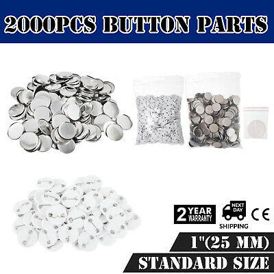 """2000Pcs 1"""" 25mm Top/Bottom Cover Pin Button Parts for Badge Maker Machine"""