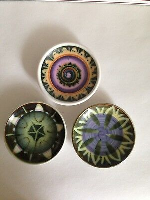 Iden Rye Pottery Pin Dishes