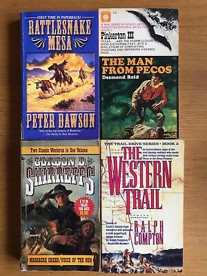 Western Cowboy Books All Paper Backs Lot Of 4 See Photos