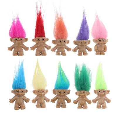10Pcs Cute Lucky Troll Doll Leprechauns Minifigure Toy Pen Cake Decoration Chic