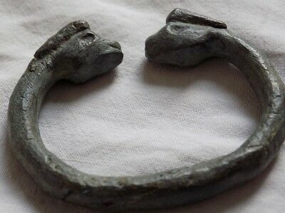 Ancient Bronze Bracelet   .   Roman . Greek . Byzantine .