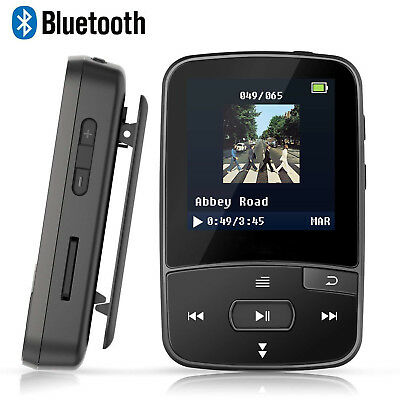 Lecteur MP3 Bluetooth 4.0 8Go Podomètre FM Enregistrement Vocal (Noir)