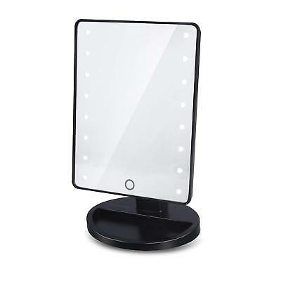 Miroir de Maquillage 16 LEDs de Table Make-up mirror avec 180 Degrés de Rotation