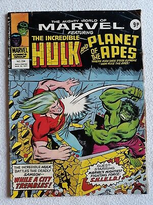 FN 1977 No. 234 MIGHTY WORLD OF MARVEL starring THE HULK