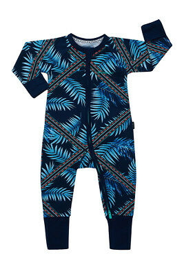 Bonds Baby Long Sleeve Zip Wondersuit Romper size 00 0 1 Colour Forest Fiesta