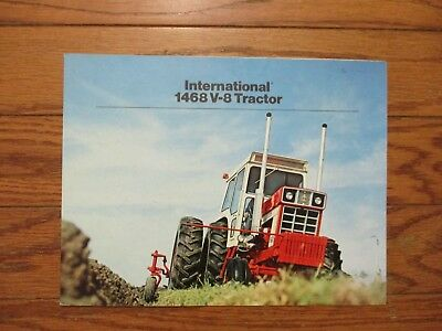"International ""1468"" V-8.tractor Sales Brochure...rare..good"