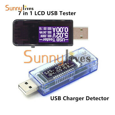 LCD USB Doctor Tester Voltmeter Ammeter Voltage Current Power Capacity Detector