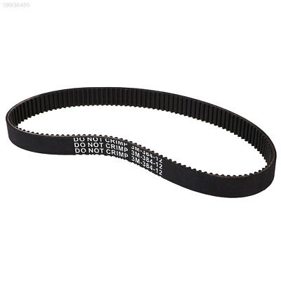 7D1B Kids Electric Scooter Wheel Rubber Drive Belt For E-Scooter 3M-384-12 Black