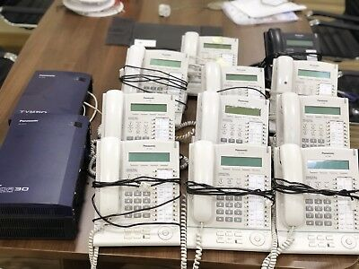 panasonic KX- TDA 30 telephone system TVM50 voice recorder 11x KX-T7630 handsets