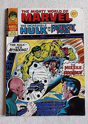 FN 1978 No. 302 MIGHTY WORLD OF MARVEL starring THE HULK