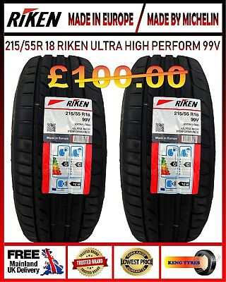 2*215/55R18 99V Riken Michelin Made 2New Tyres Amazing Ratings Stunning Lowprice