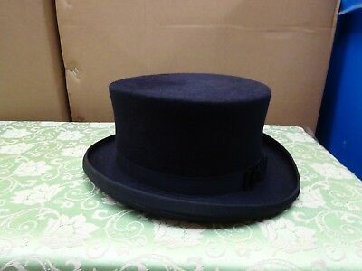 navy  size 7 1/8 / 58cm top hat showing night performance dressage side saddle