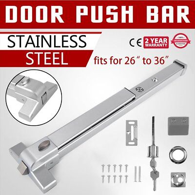 "39"" Panic Exit Device For Fire Durable Door Push Bar Commercial Single Door OY"