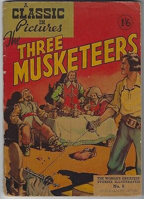 Early Graphic comic of Three Musketers