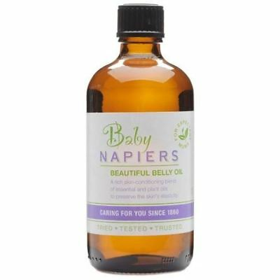 TWO PACKS of Napiers Baby Beautiful Belly Massage Oil 100ml