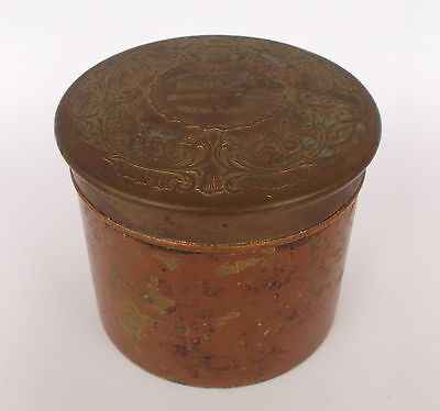 Antique  Morny Bath Dusting Powder Container Tin Can