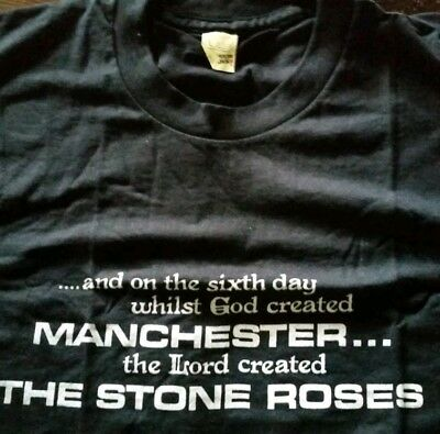 The Stone Roses On The 6th Day Vintage 1990 Short Sleeve T-shirt Madchester (L)