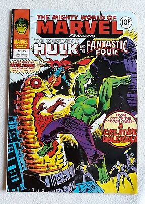 FN 1978 No. 304 MIGHTY WORLD OF MARVEL starring THE HULK