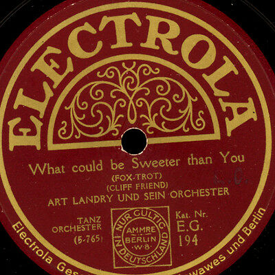 ART LANDRY ORCH.  What could be sweeter than you (flott)/ Sleepy time gal  S7240