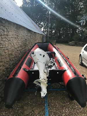 4.2 inflatable rib and 2005 4 stroke 15 horse power Johnson outboard