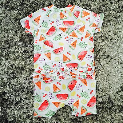 BNWT Bebe By Minihaha Baby Girl Fruit Salad Swimwear - Size 9-12M
