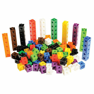 100 x 2cm Snap Cubes - Counting Linking Building Maths Home Early Learning