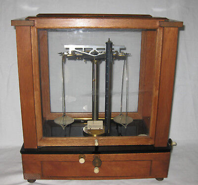 ANTIQUE 1920s CHRISTIAN BECKER CHAINOMATIC BALANCE SCALE