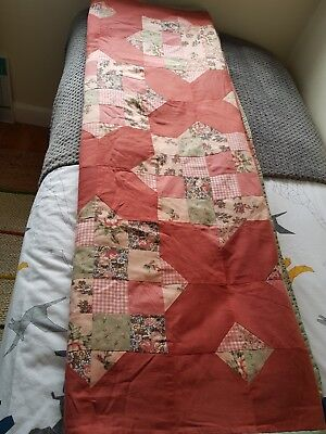 VINTAGE SINGLE BED PATCHWORK COVER - SIZE 69 x 50 INS