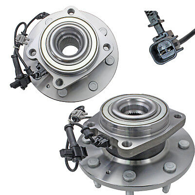 2 Front Wheel Hub Bearing 8 Lug Assembly for Chevy GMC Sierra 2500HD 3500HD 4WD