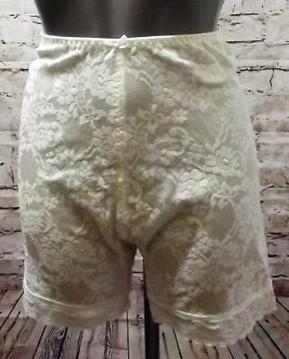 Vintage St Michael Roll On Embossed Floral Girdle Corset Long Johns Bloomers