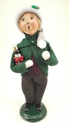 Byers Choice male child Caroler with ornament 2004