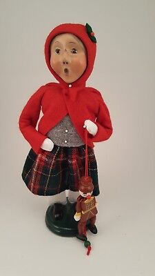 Byers choice female child Caroler with puppet toy 2005