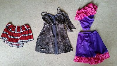 Dance Costumes Cosplay Halloween 3 Outfits Assorted Child Youth Small