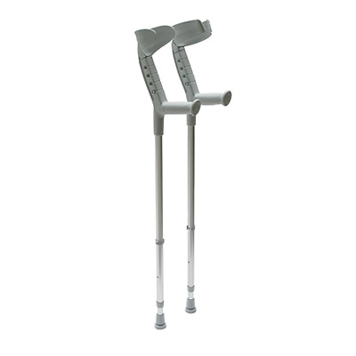 Progress Elbow Crutches - Open/Close Cuff - Single or Pair - Walking Aid
