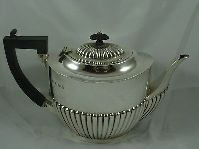 LARGE, EDWARDIAN solid silver TEA POT, 1904, 582gm