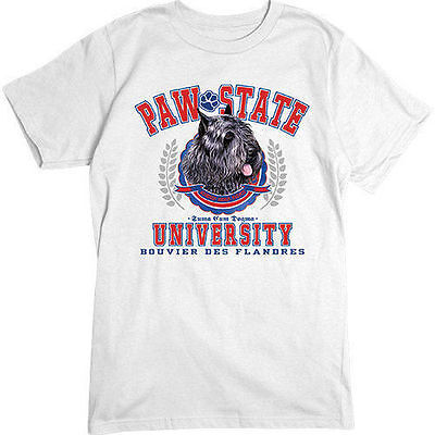 Bouvier des Flandres Paw State University T-SHIRT Dogs Dog Breeds Animals TEE