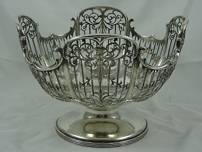 STUNNING solid silver FRUIT BOWL, 1911, 625gm