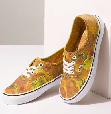 NIB Vans Limited Vincent VAN GOGH Authentic (white / sunflowers) - Last ones!