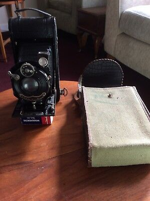 Vintage. Folding Camera With Case