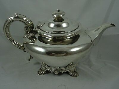 SMART, WILLIAM IV solid silver TEA POT, 1833, 665gm