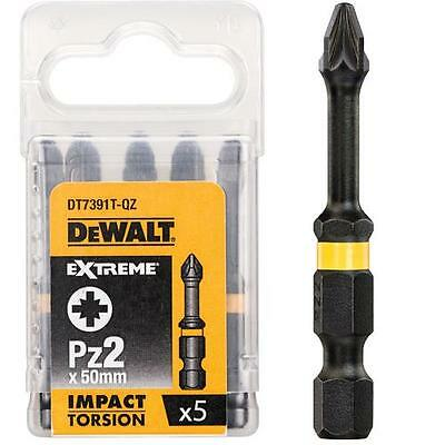 Dewalt Extreme Dt7391T 5 X Pz2 High Impact Torsion Screwdriver Bits X 50Mm