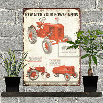 Case Tractor Gas Advertising Ad Baked Metal Repro Sign 9x12 60142